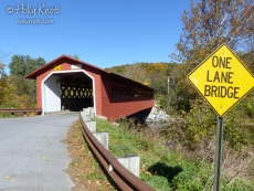 Covered bridge in Bennington, VT
