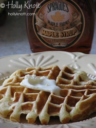 Belgian waffle made with yeast