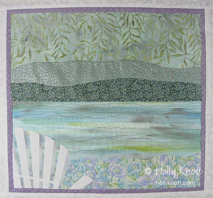 Lazy Summer Afternoon - art quilt by Holly Knott