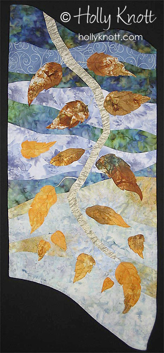 Falling Leaves - tree quilt by Holly Knott