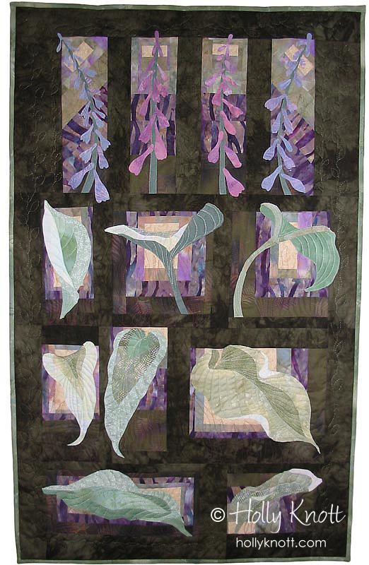 A Study of Hosta - art quilt by Holly Knott