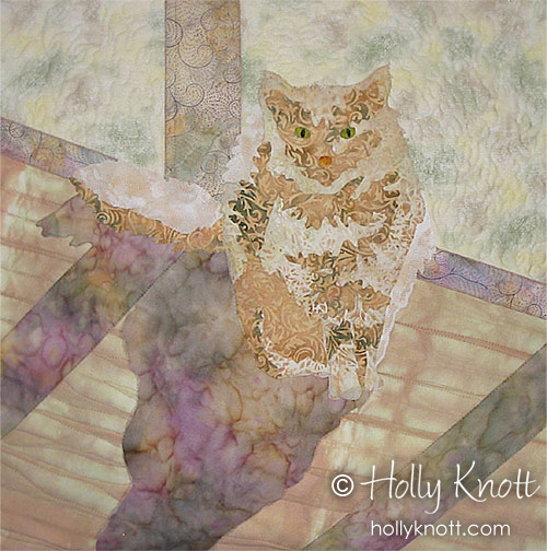 Quimby in the Sun - cat quilt by Holly Knott