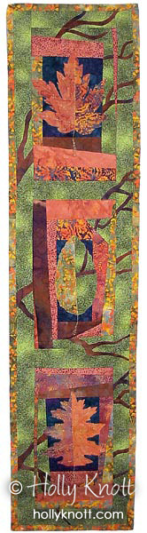 Reaching For Autumn - a tree quilt by Holly Knott