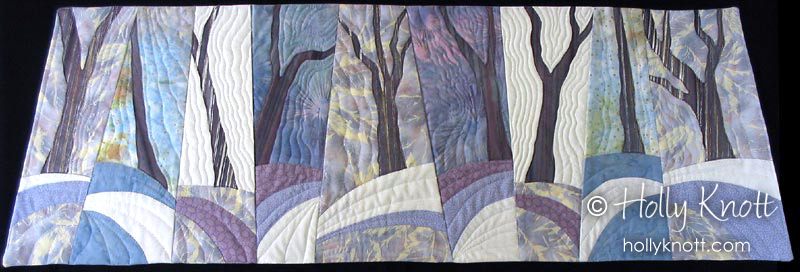 Snow Slices - art quilt by Holly Knott