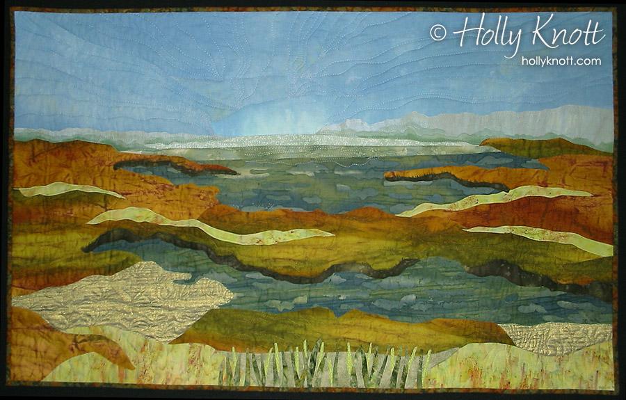 Art quilt of Assateague Island, by Holly Knott
