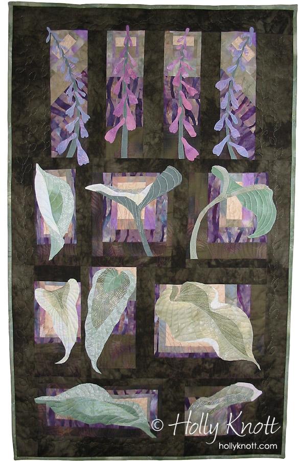 Hosta, an art quilt by Holly Knott