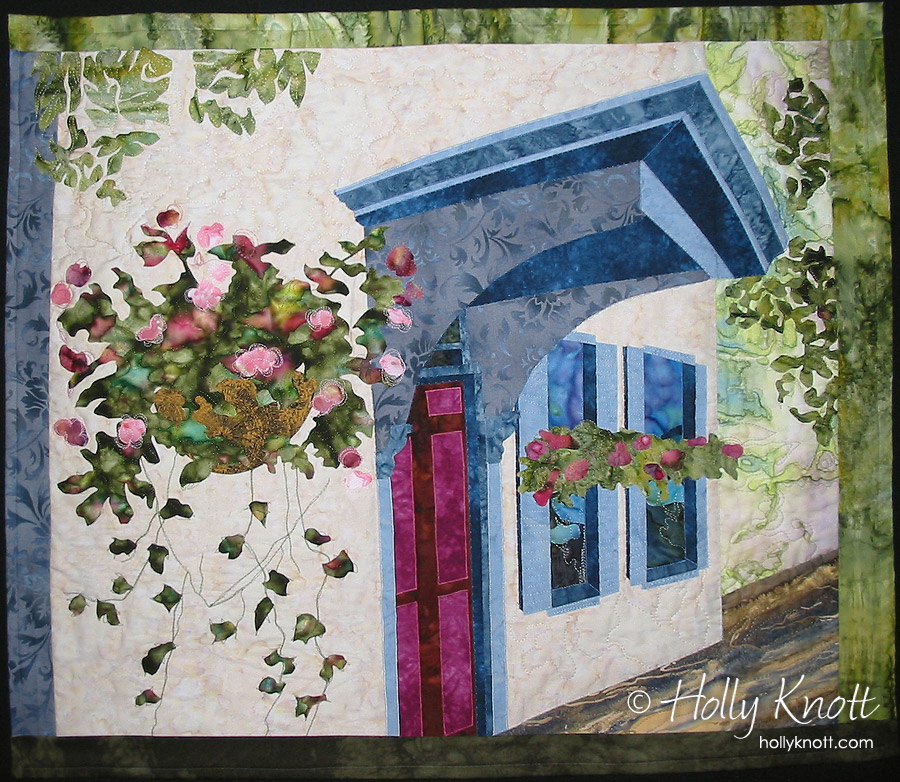 Strawberry Jam - a shop that used to be in New Hope, PA - an art quilt