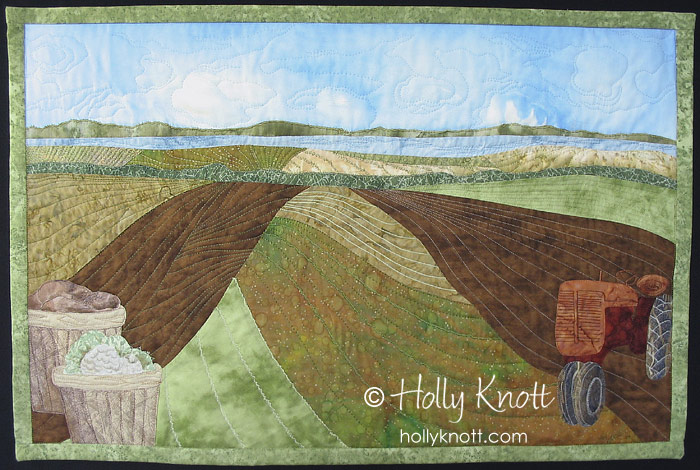 Long Island Farmland - landscape quilt by Holly Knott