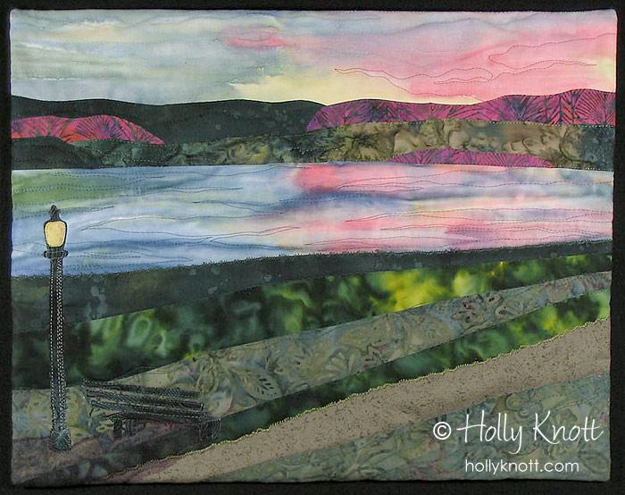 Seneca Lake Sunset - a landscape quilt by Holly Knott