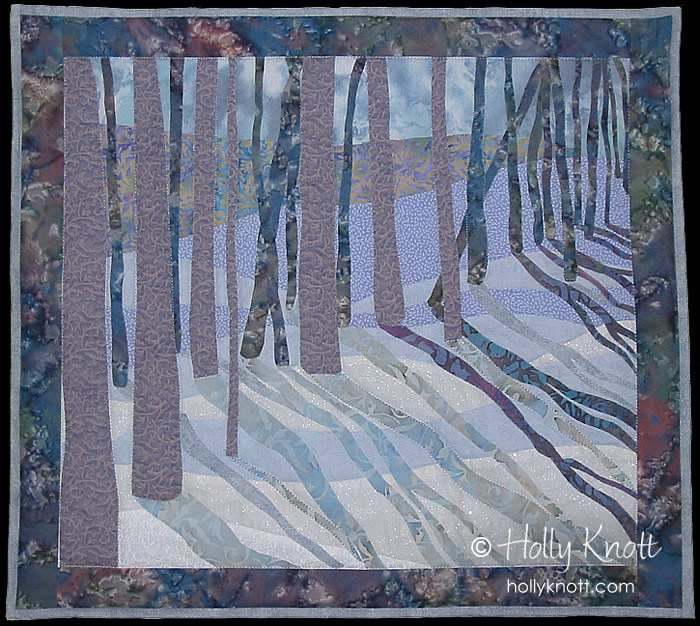 Snow Shadows quilt by Holly Knott
