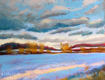 Late Afternoon Glow, pastel painting by Holly Knott