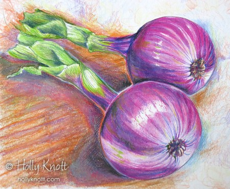 Red Onions by Holly Knott