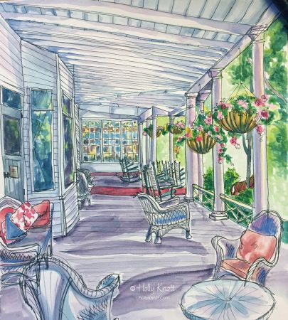painting of front porch