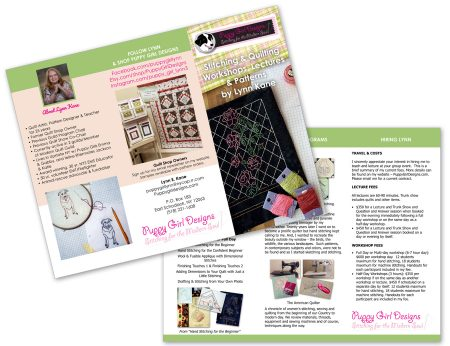 3 fold marketing brochure by Holly Knott